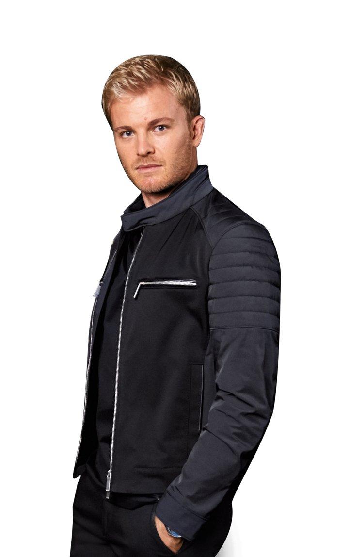 Wasserabweisende Biker-Jacke mit Leder-Details: 'Chead1' aus der Mercedes-Benz Kollektion
