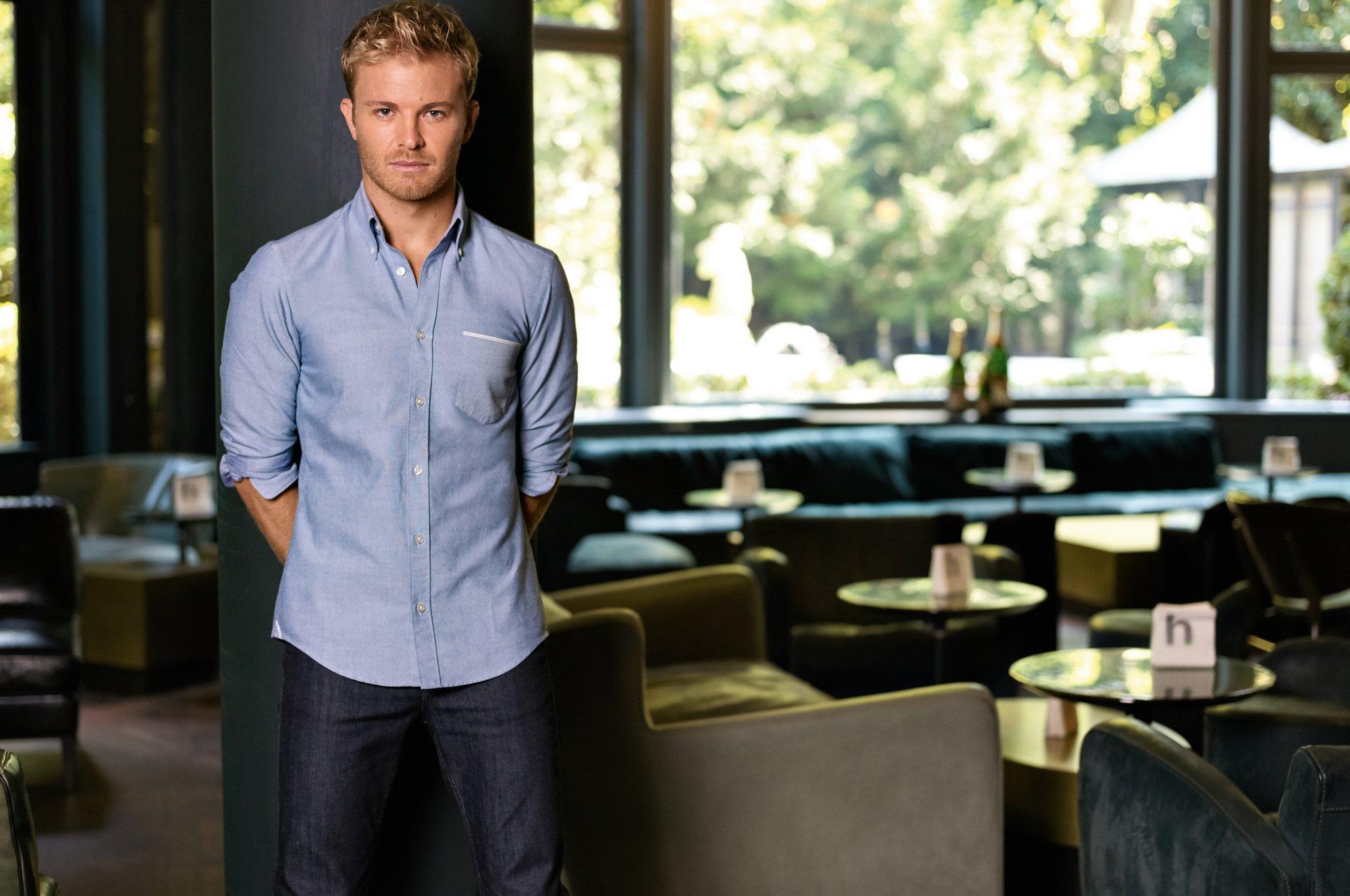 Nico Rosberg wearing BOSS Wardrobe Staples