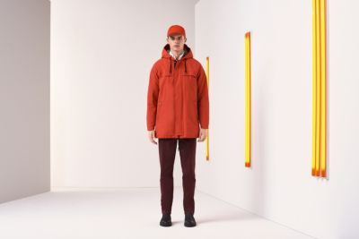 Relaxed-fit jacket in a technical cotton blend
