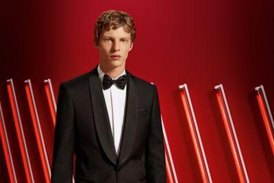 Man in BOSS tuxedo