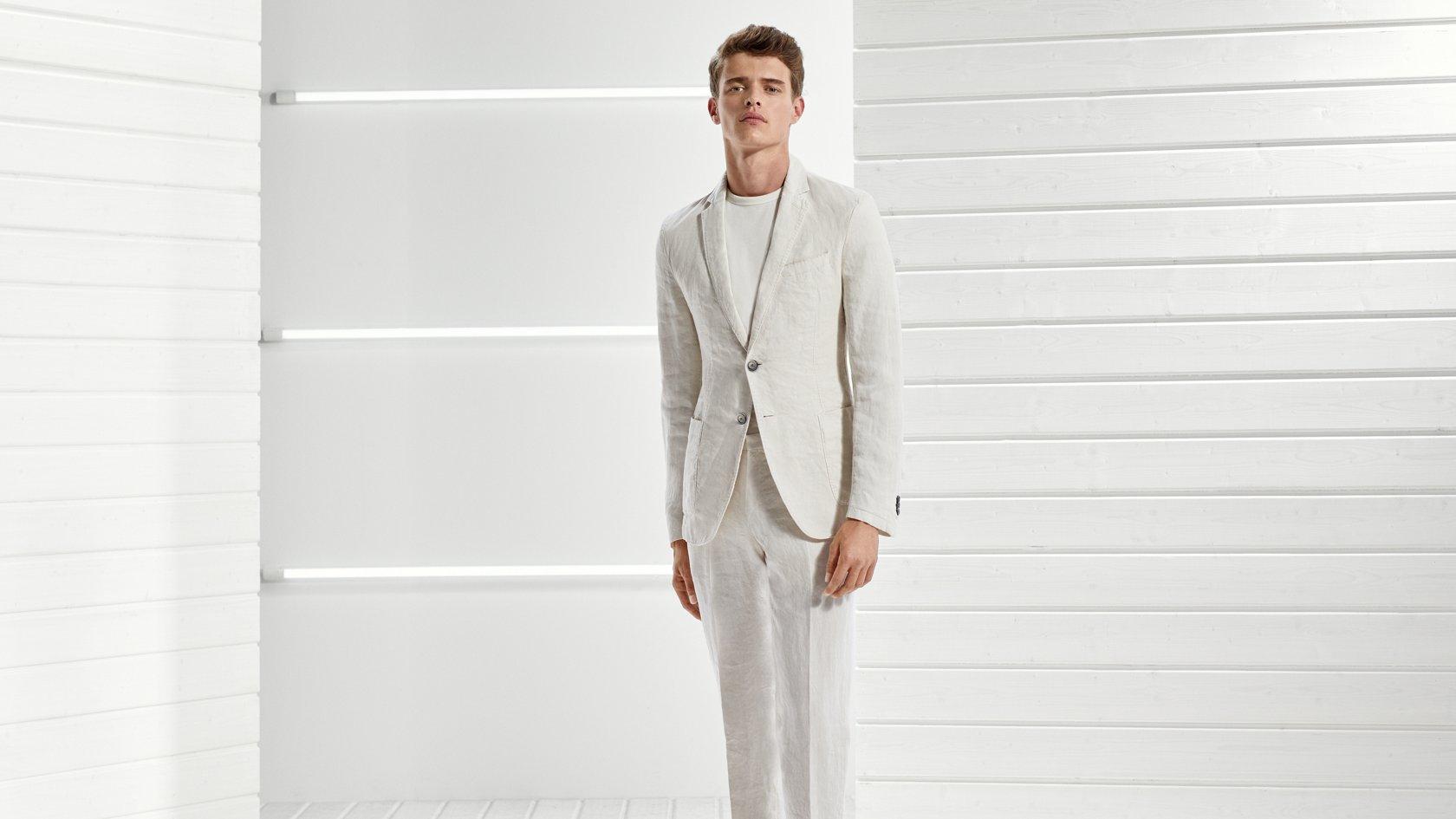 Resultado de imagen para traje lino hombre