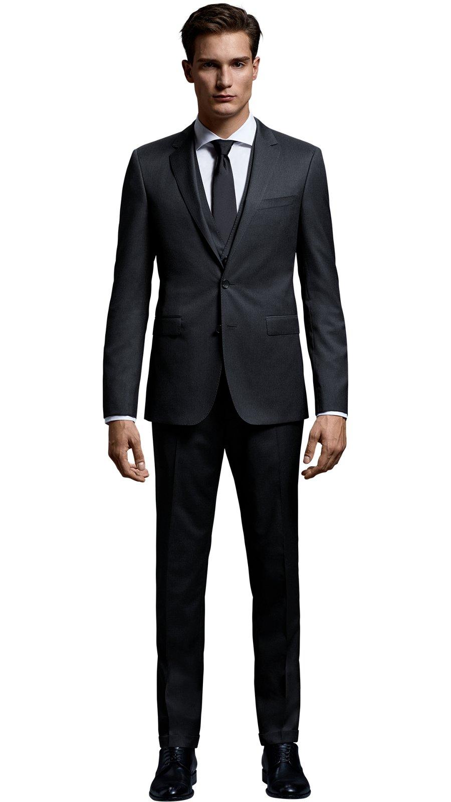 9970f270e015 Herr mit grauem Mix and Match Anzug aus der Create Your Look Kollektion von  BOSS ...