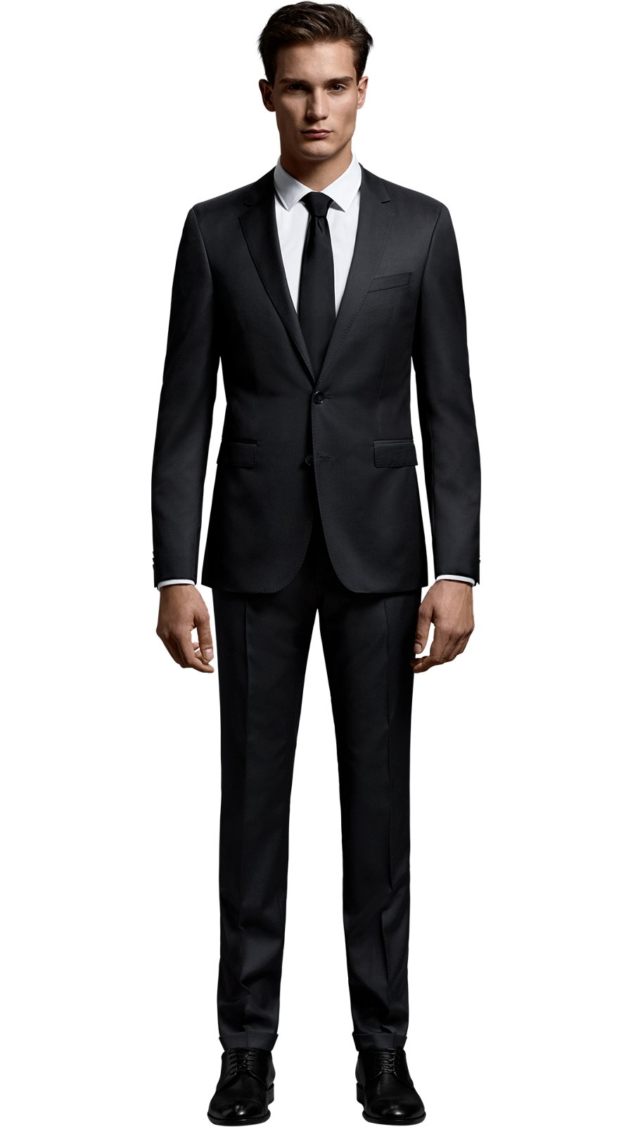 ffc2487d4f1 Man wearing a mix and match black suit from Create your look collection by  BOSS ...