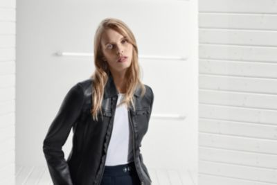 Leather jacket from Boss womenswear