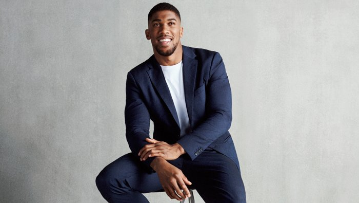 Boxer Anthony Joshua wearing an outfit from BOSS