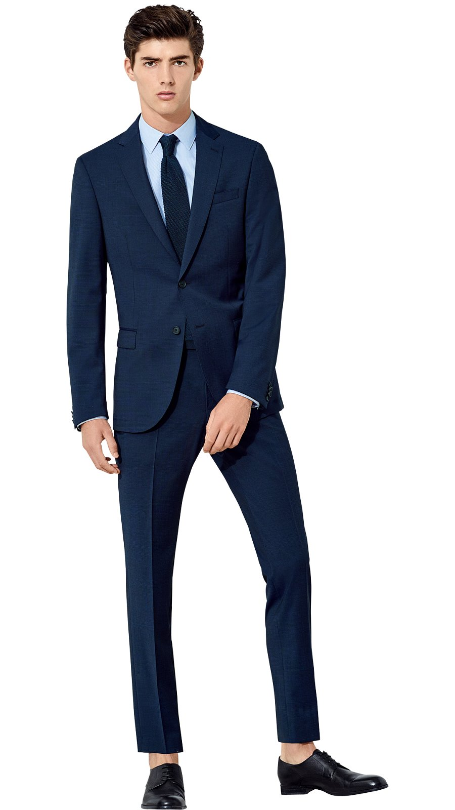 4dbcecfa191 Man is wearing a blue suit