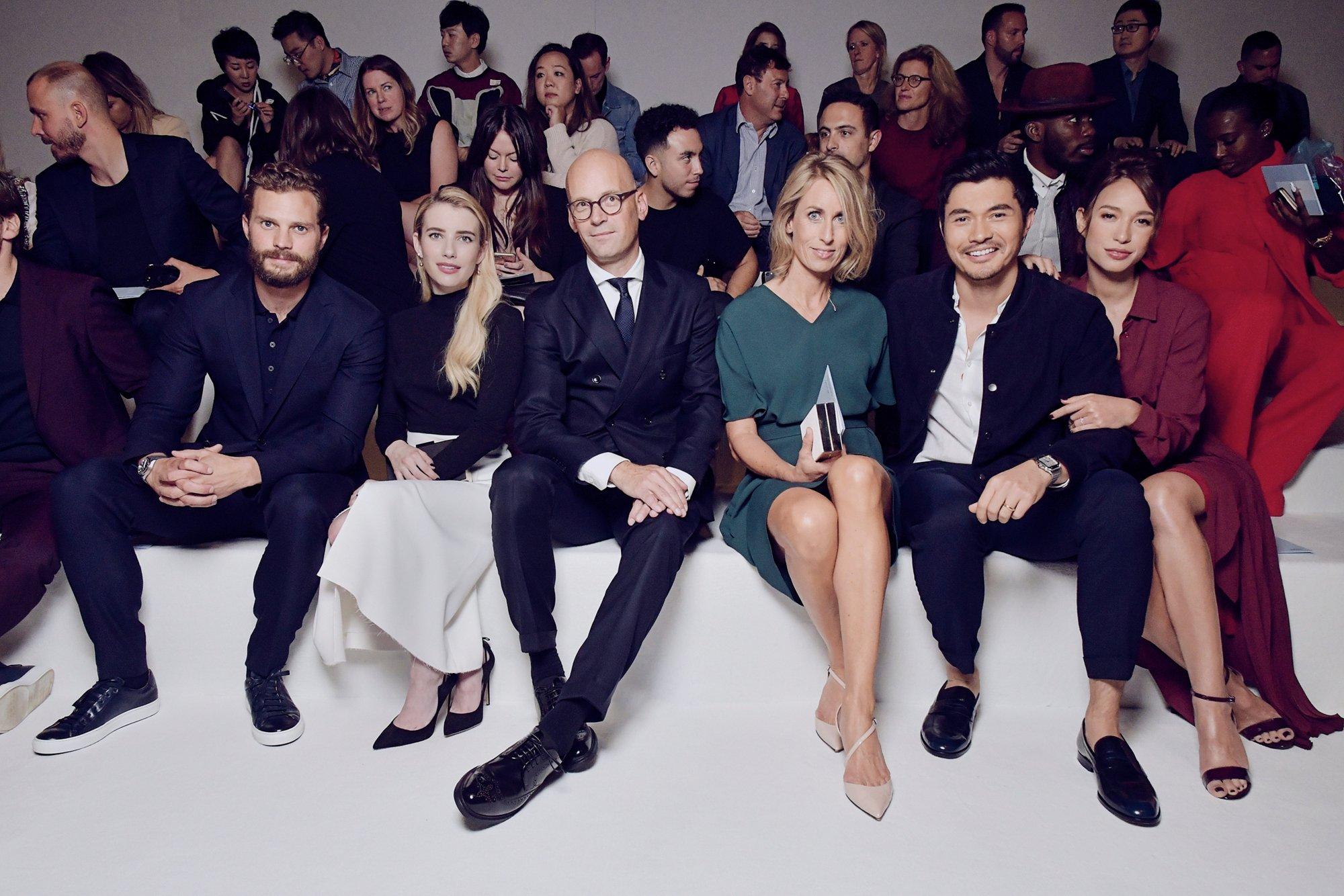 Jamie Dornan, Emma Roberts, Mark Langer, Andrea Langer, Henry Golding & Liv Lo