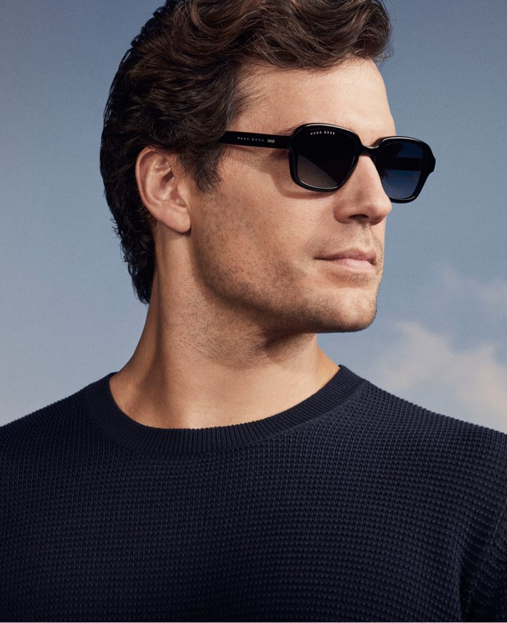 591aa6d9758f The new BOSS Eyewear collection featuring actor Henry Cavill ...