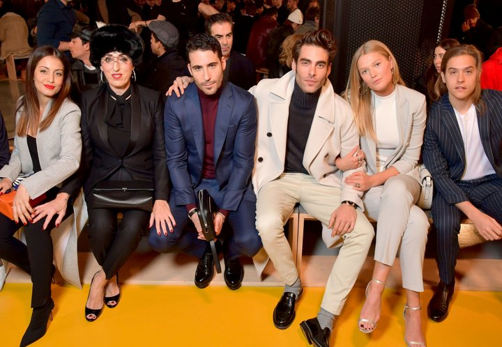 3cb2eb674654 Guests at the BOSS Fall Winter 2018 fashion show dd