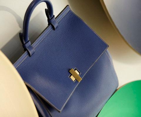 BOSS Bespoke Soft Bag blue close-up