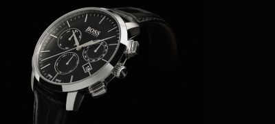 Black Signature watch by BOSS
