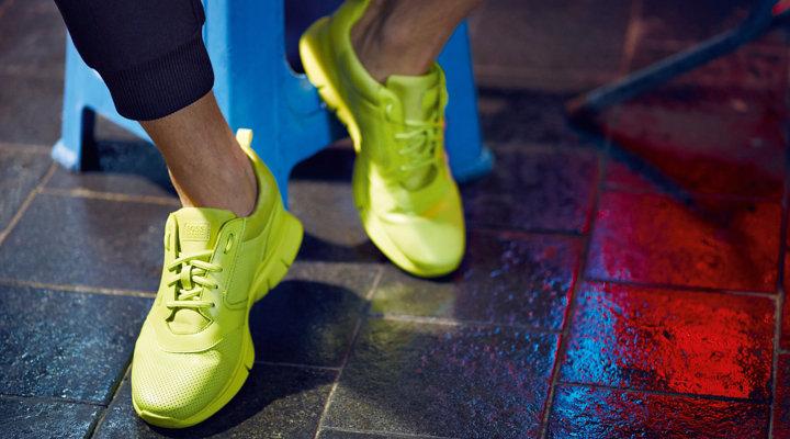 Gelbe Sneaker von BOSS Green