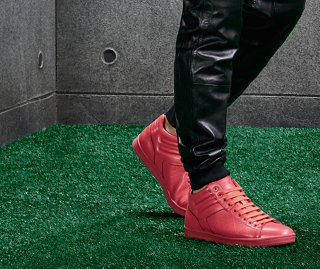Red sneakers by BOSS Green