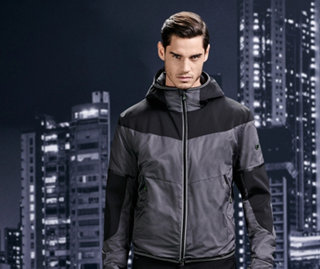 Black and grey color block jacket by BOSS Green