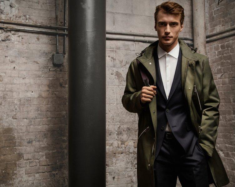 Manteau, costume et chemise BOSS