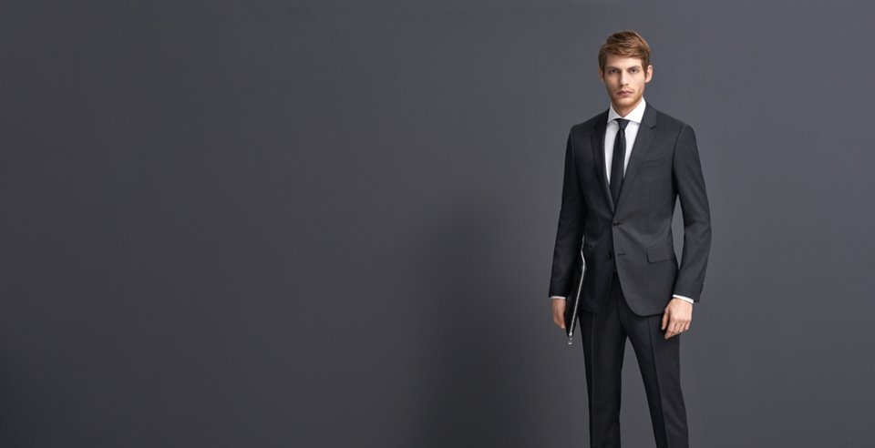 black business suit by BOSS