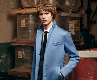 Blue overcoat by BOSS