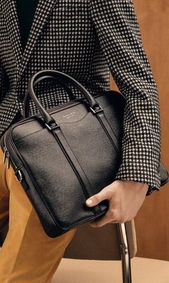 Black Leather bag by BOSS