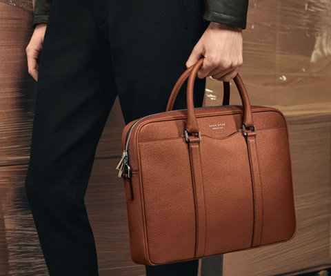 Brown Signature Bag by BOSS