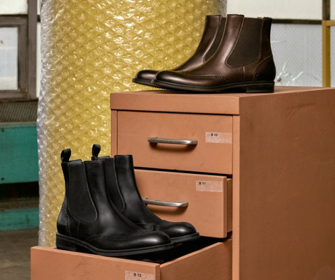 Two pairs of chelsea boots by BOSS