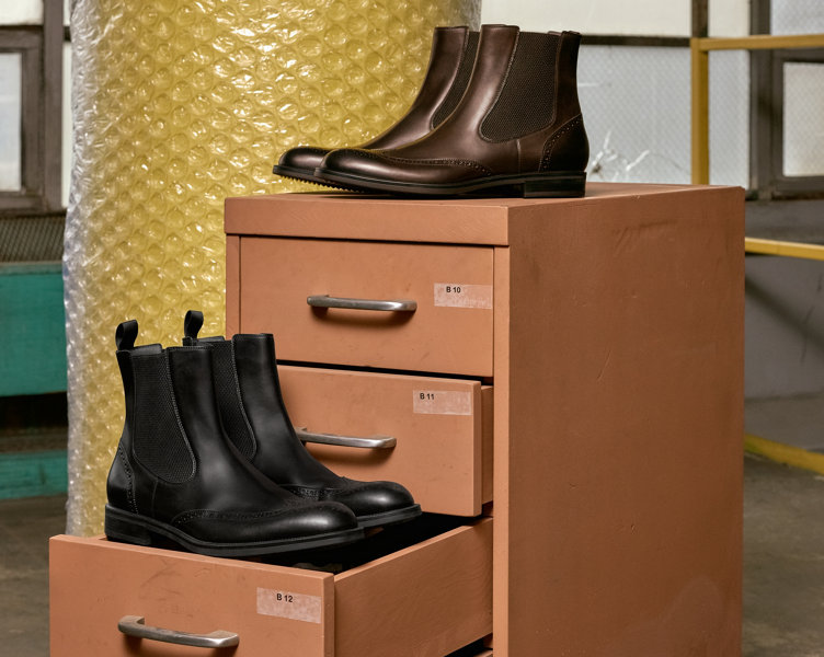 Brown and black boots by BOSS