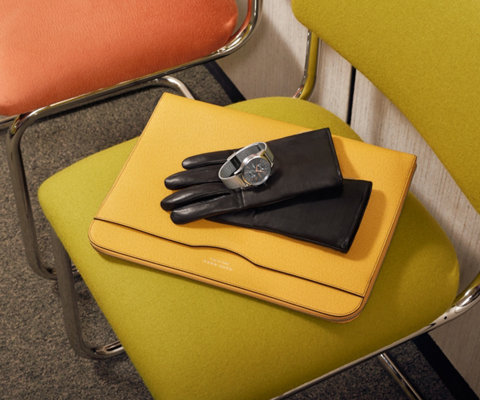 Gele beschermhoes van BOSS voor tablets
