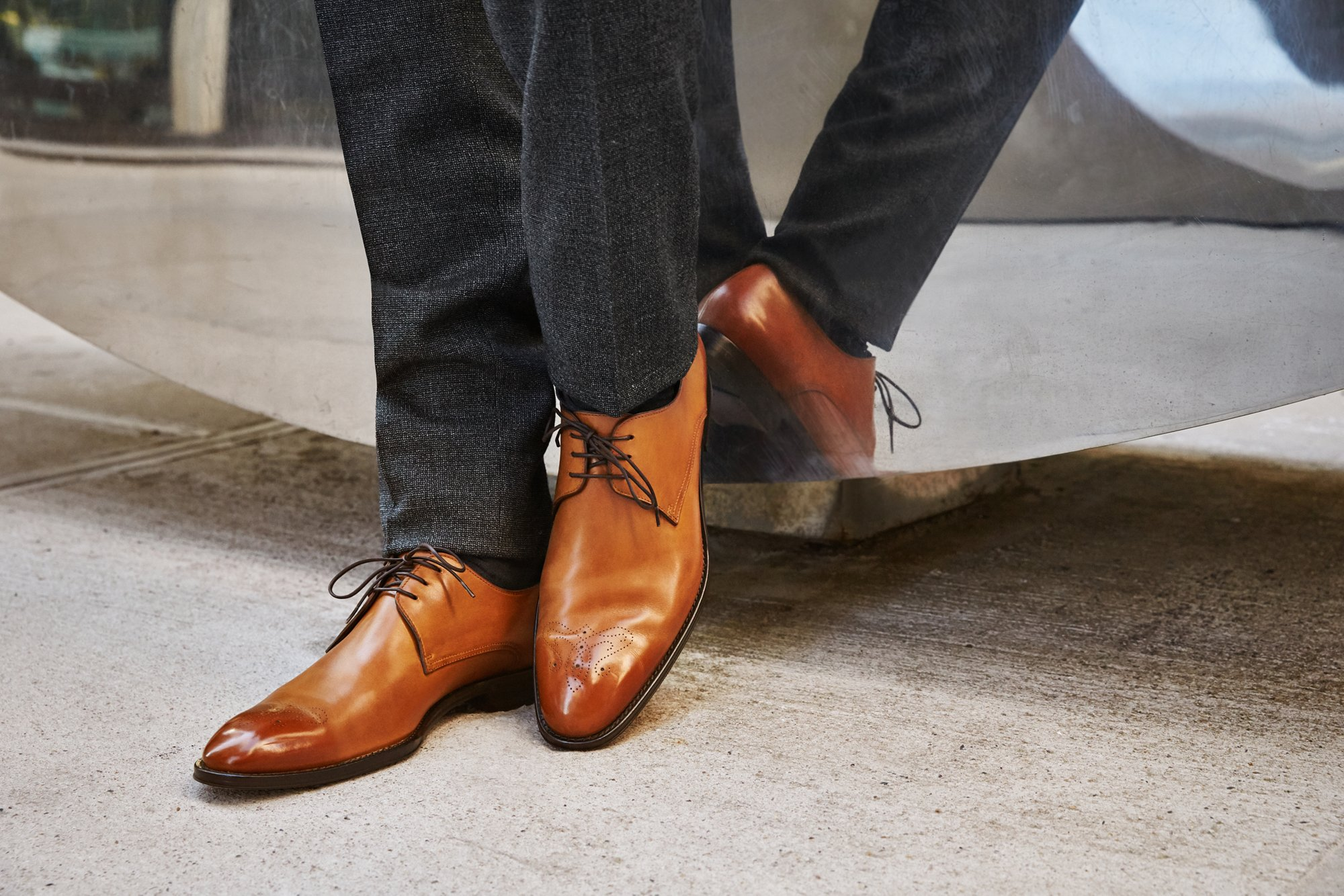 Brown leather shoes by BOSS