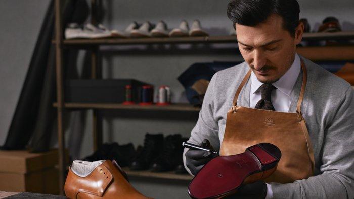 Produktion von BOSS Schuhen