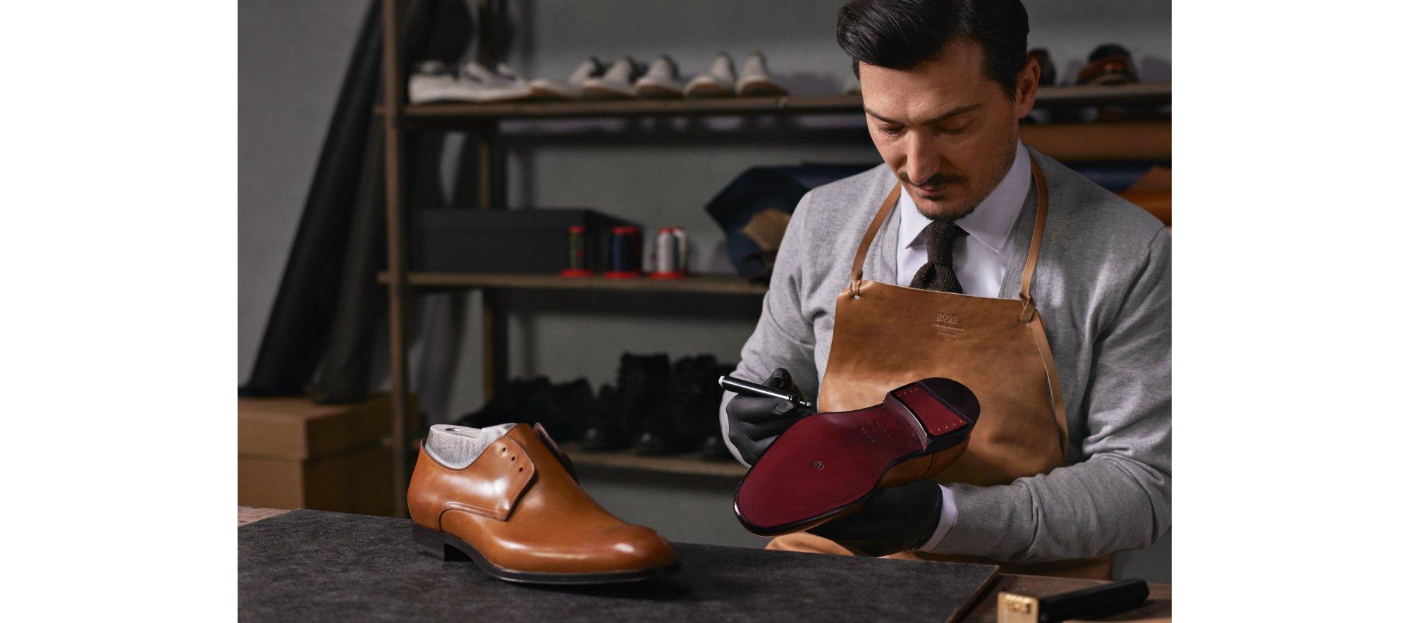 Herstellung von Schuhen von BOSS