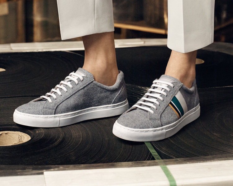Grey trainers by BOSS