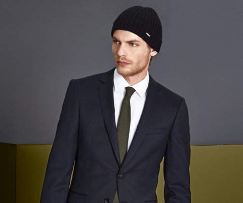 Tailored jacket, shirt and tie by BOSS