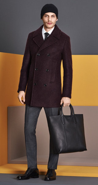 Coat, grey Suit, white Shirt, Tie, Hat, Shoes and Bag by BOSS