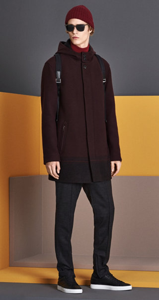 Dark Brown Outerwear, Knitwear, Trousers, Hat, Shoes, Bag and Sunglasses by BOSS