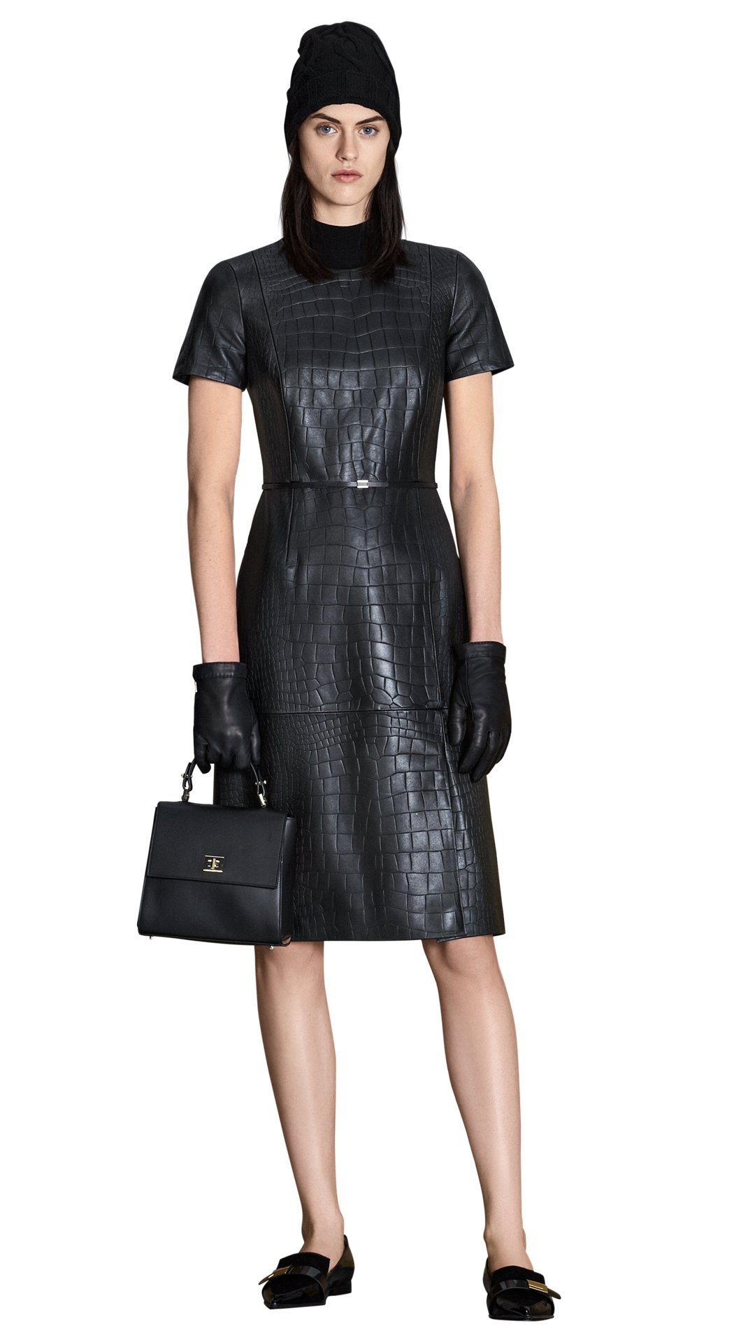 Black dress with black shoes - Black Dress Black Bag Black Hat And Black Shoes By Boss