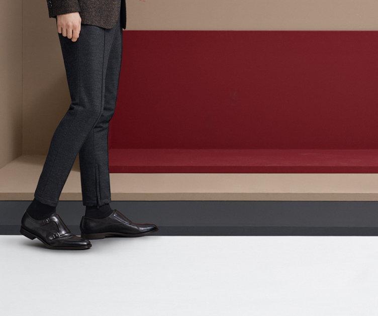 Elegante HUGO BOSS Business-Schuhe aus schwarzem Leder. Anzugschuhe für Herren.