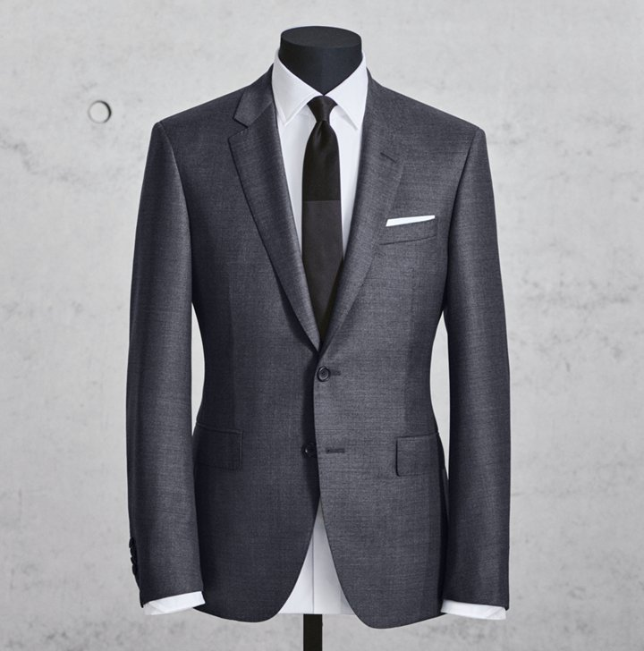 317ef41afb2e Dark Full Canvas men suit for business occassions by BOSS ...