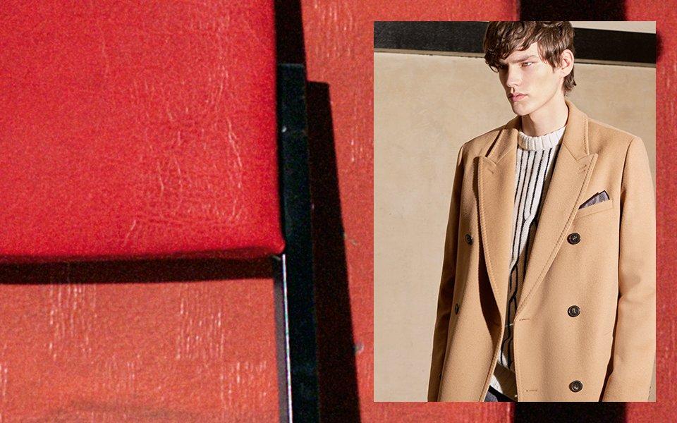 Lightbrown Coat, sweater by HUGO