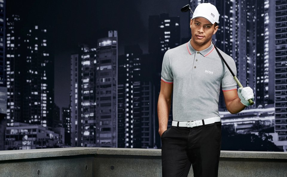 Grey polo shirt by BOSS Green