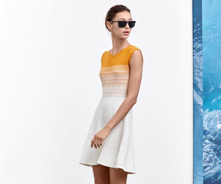 Orange/white dress by BOSS Orange
