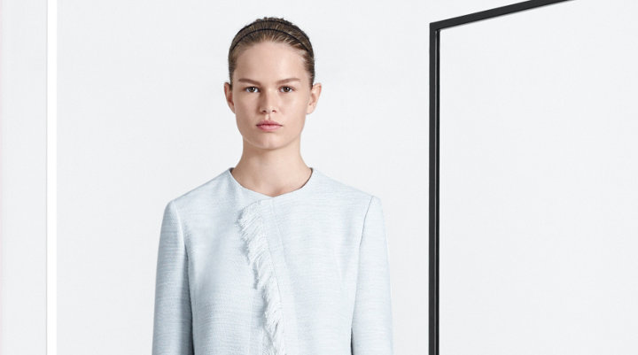White coat and knitwear by BOSS