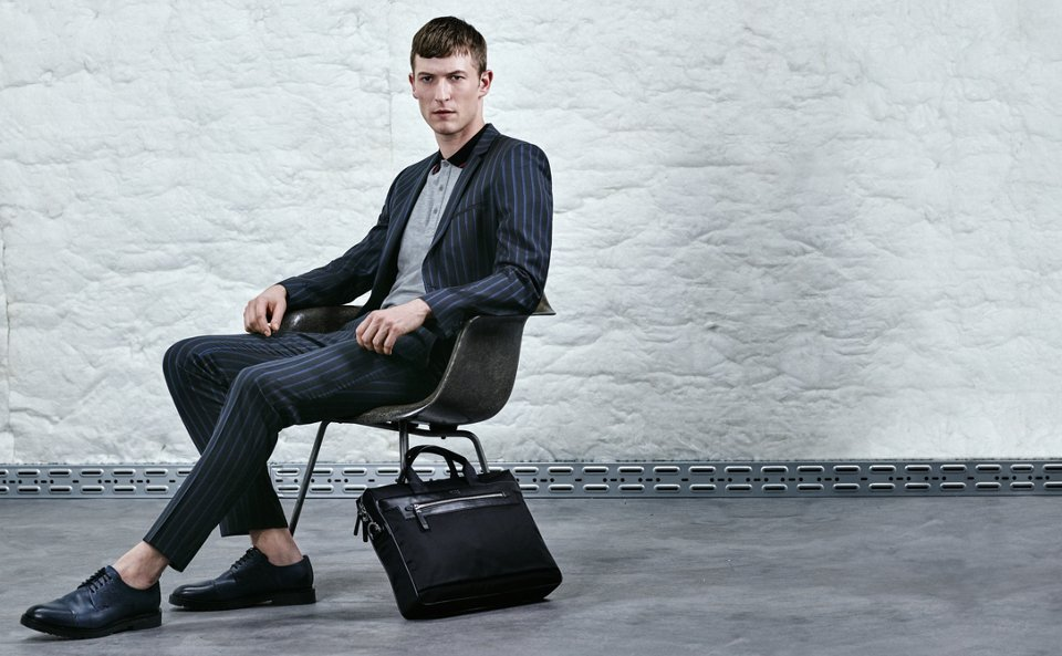 Suit, jersey, bag and shoes by HUGO