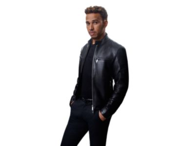 Mercedes-Benz Collection slim-fit biker jacket in nappa leather