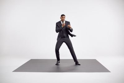 Unified heavyweight world champion Anthony Joshua wears BOSS