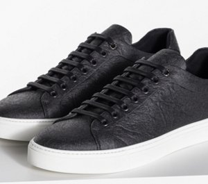 09313e76ff Black Pinatex shoe by BOSS menswear ...