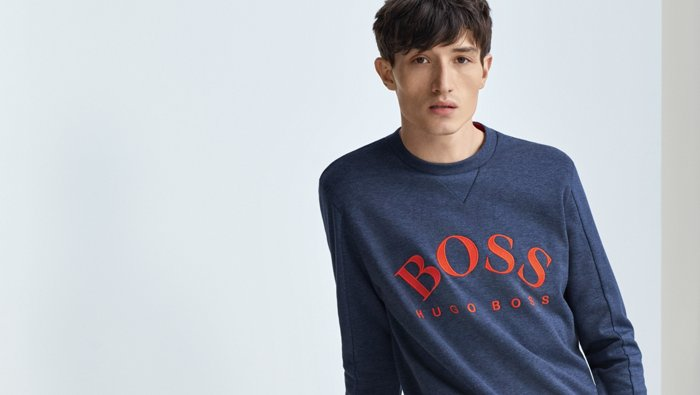 Logo sweater look for men by BOSS