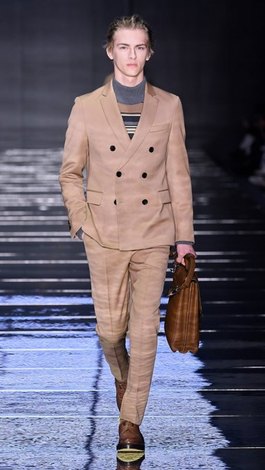 7974b394ebc Men s runway looks. Runway look from the BOSS fashion show Fall Winter 2019  ...