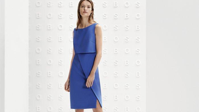 Formal blue trouser suit look for Women by BOSS