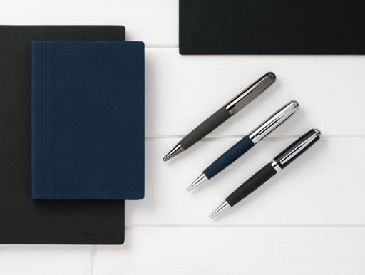 4acdafbbd884 ... Picture shows one notebook and three roller pen from BOSS
