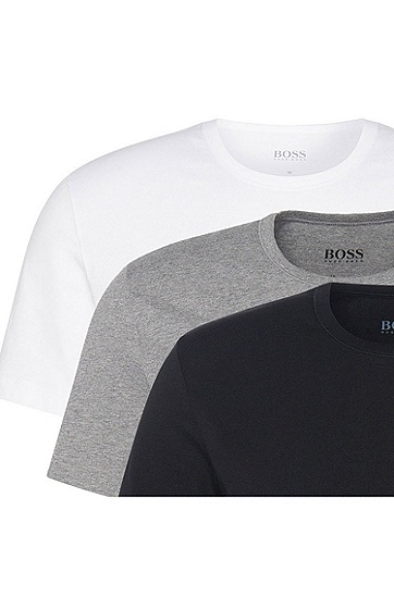 三件装常规版棉质T恤,  999_实物颜色