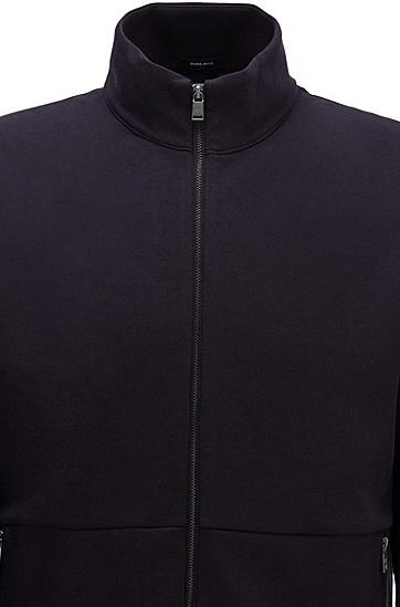 双面棉质混纺面料拉链式运动衫,  480_淡蓝色